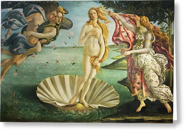 Birth Of Venus - Botticelli Greeting Card