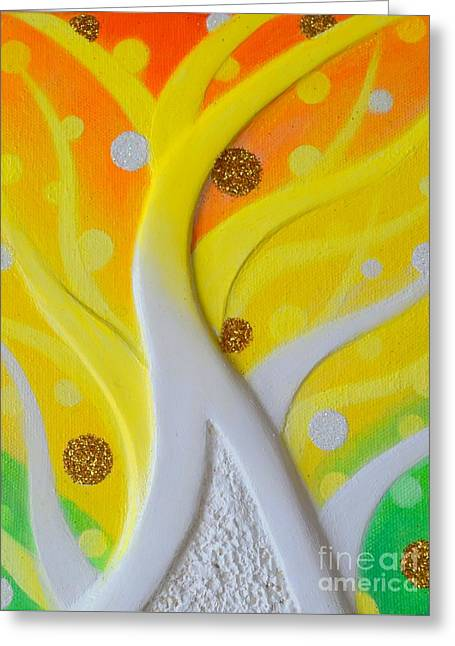 Birth Yellowgold 3 Greeting Card