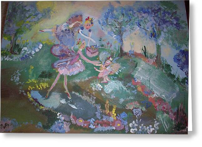 Greeting Card featuring the painting Birthday Fairy by Judith Desrosiers