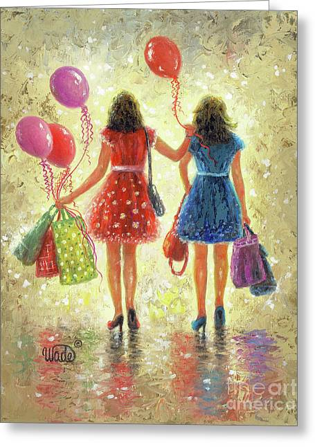 Birthday Girls Greeting Card by Vickie Wade