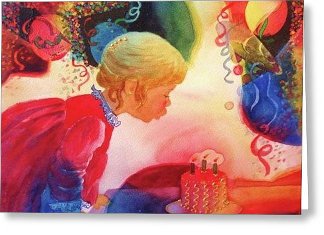 Birthday Party Greeting Card by Marilyn Jacobson