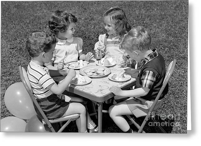 Birthday Party On The Lawn, C.1950s Greeting Card by H. Armstrong Roberts/ClassicStock