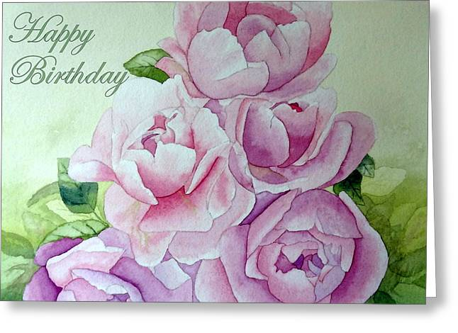 Birthday Peonies Greeting Card