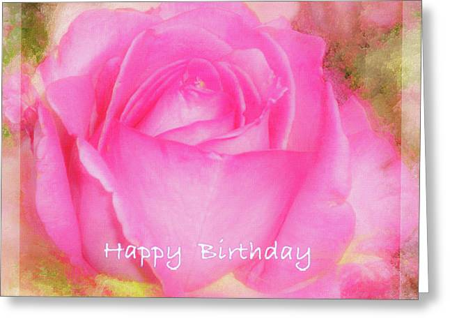 Birthday Rose Pastel Soft Sorbet 6 Greeting Card by Mona Stut