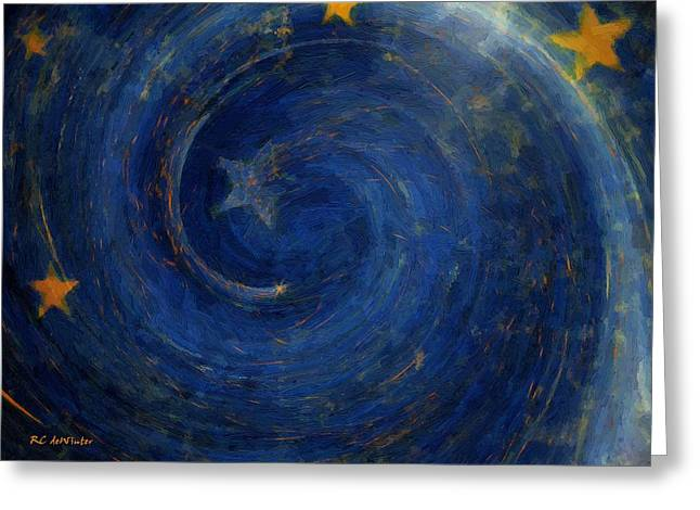 Birthed In Stars Greeting Card