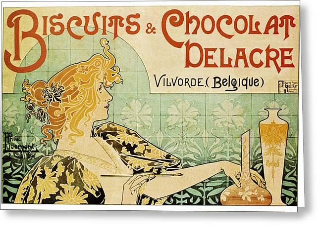 Biscuit Chocolat Greeting Card by Hans Wolfgang Muller Leg
