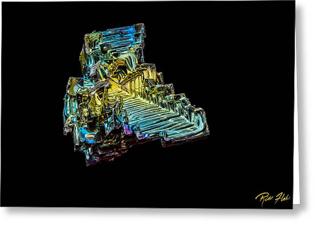 Greeting Card featuring the photograph Bismuth Crystal by Rikk Flohr