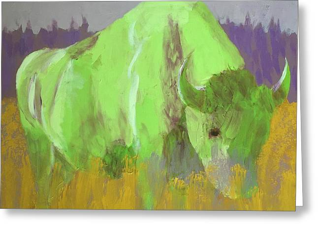 Bison On The American Plains Greeting Card