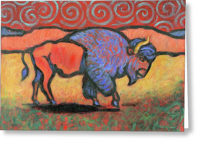 Bison Totem Greeting Card