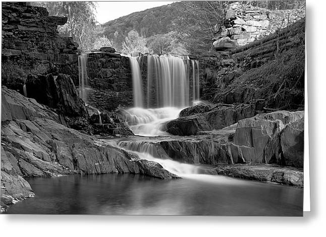 Bissell Falls   Greeting Card by Ed Boudreau
