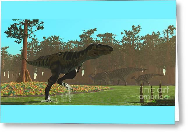 Bistahieversor Dinosaur Greeting Card