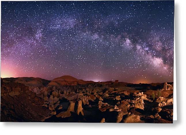 Bisti Badlands Night Sky - 2 Greeting Card