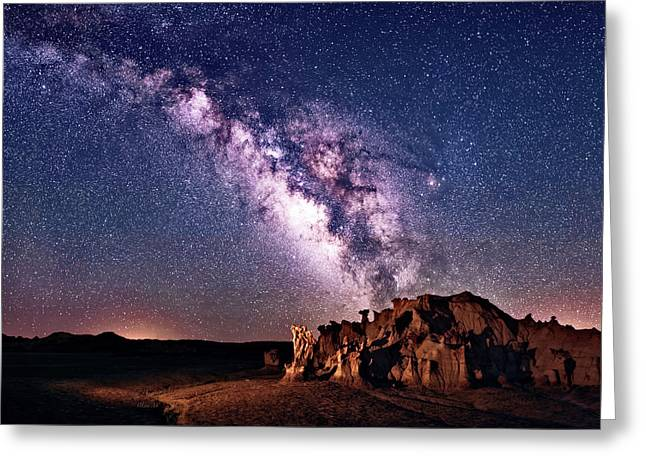 Bisti Badlands Night Sky Greeting Card