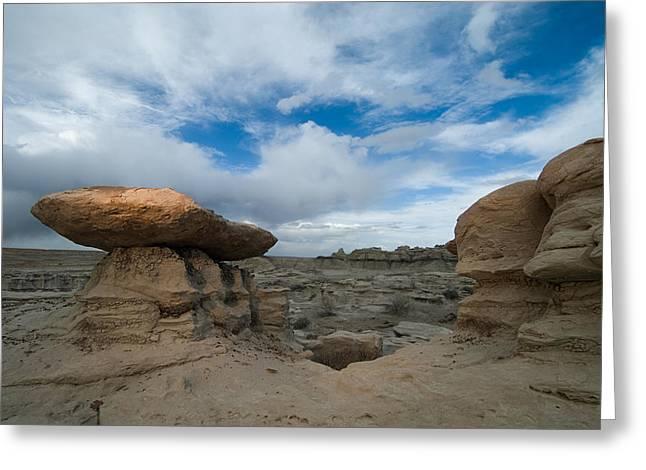 Bisti Fissure New Mexico Greeting Card by Steve Gadomski