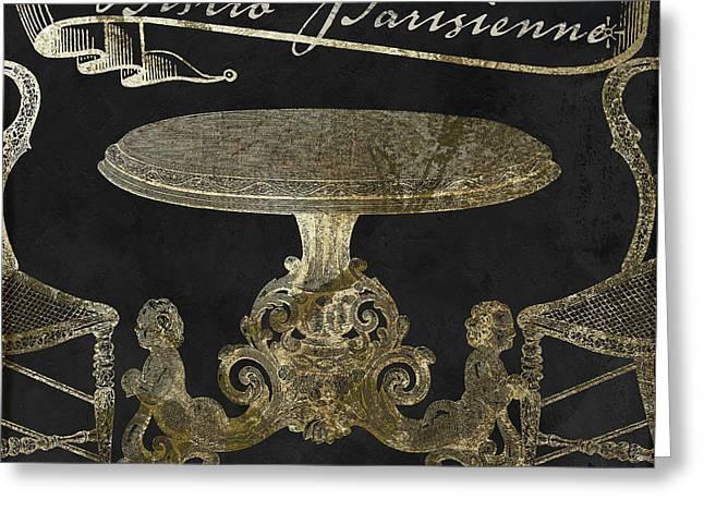 Bistro Parisienne Gold Greeting Card