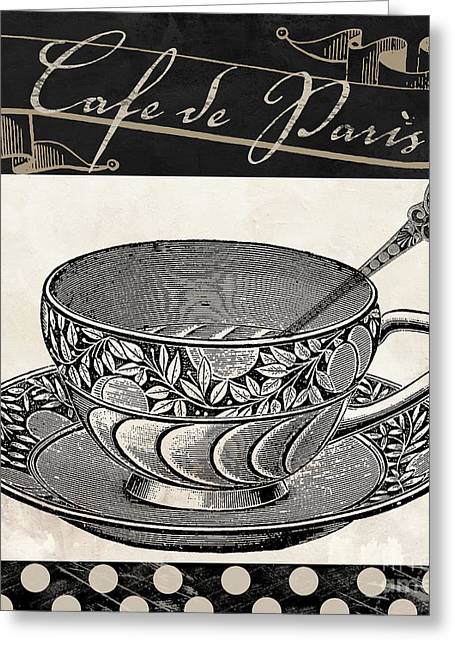 Bistro Parisienne IIi Greeting Card by Mindy Sommers