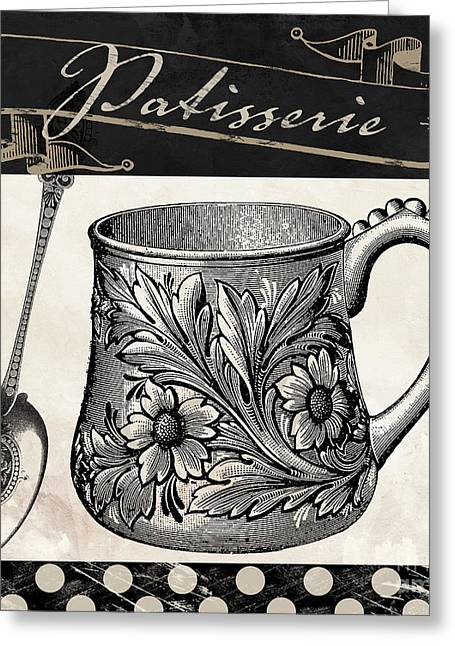 Bistro Parisienne Iv Greeting Card by Mindy Sommers