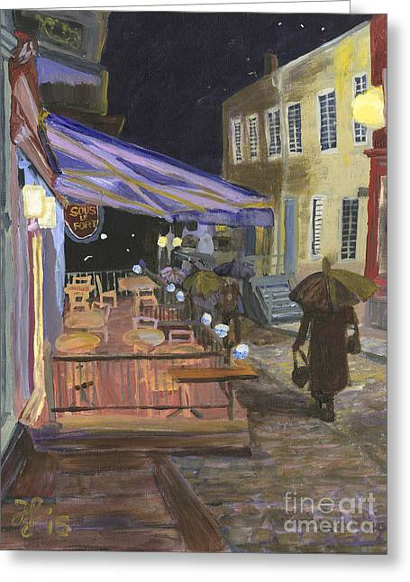 Bistro Sous Le Fort Greeting Card