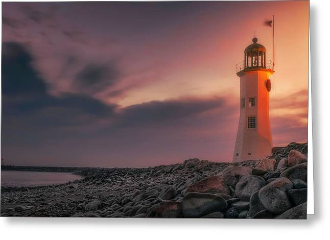 Bittersweet Scituate Light Greeting Card