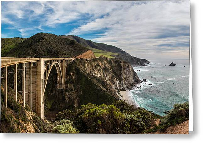 Bixby Creek Bridge Big Sur California  Greeting Card by John McGraw