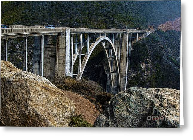 Bixby Bridge Greeting Card by Anthony Forster