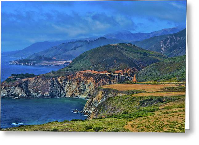 Bixby Bridge 1 Greeting Card by Tommy Anderson