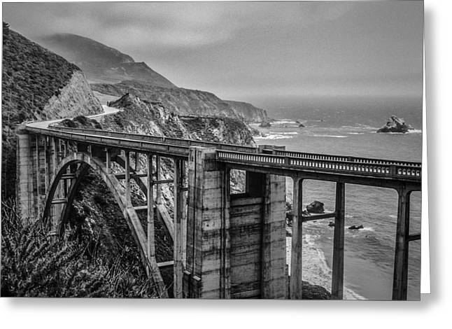 Bixby Bridge, Big Sur, Ca Greeting Card by Ashley Perlstein