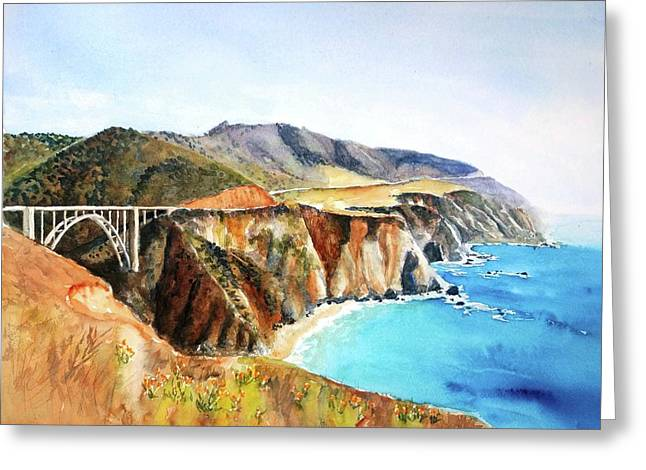 Bixby Bridge Big Sur Coast California Greeting Card