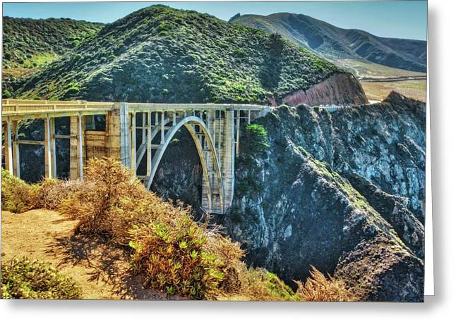 Bixby Bridge - Big Sur Coast Greeting Card by Jennifer Rondinelli Reilly - Fine Art Photography