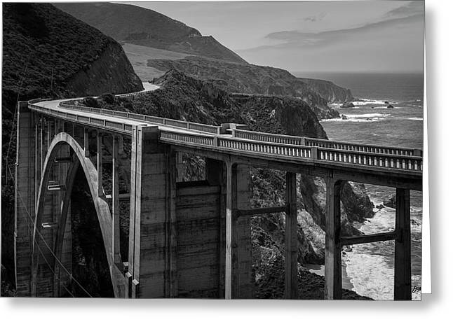 Bixby Bridge Big Sur II Bw Greeting Card