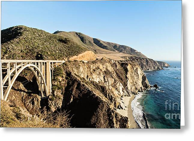 Bixby Bridge California Coast Greeting Card by Scott Pellegrin