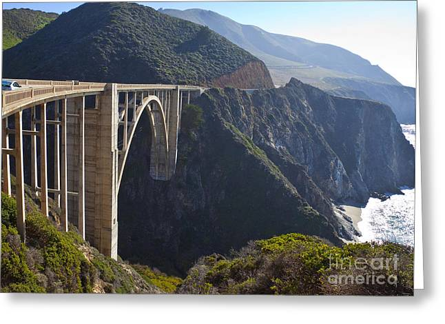 Bixby Bridge Crossing A Chasm Greeting Card by David Buffington