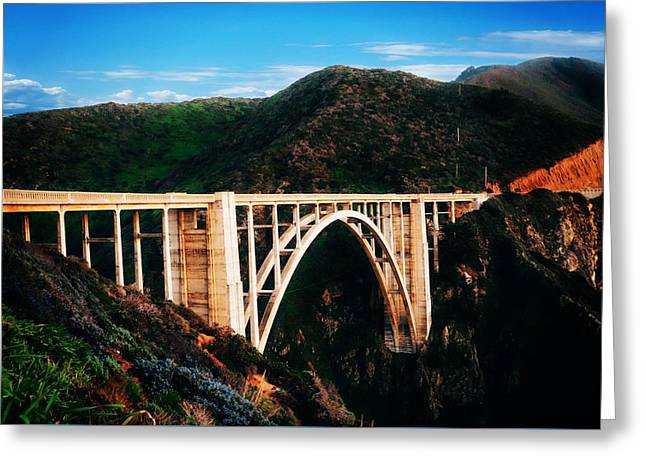 Bixby Bridge Greeting Card by Dawn Van Doorn