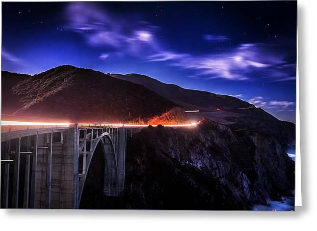 Bixby Bridge Dreams Greeting Card by Carlos Rodriguez