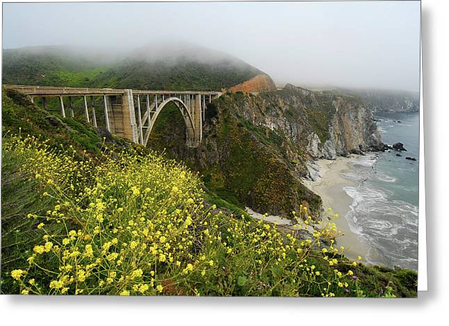Bixby Bridge Greeting Card by Harry Spitz