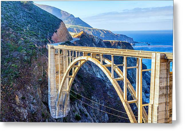 Bixby Bridge Greeting Card by Joseph S Giacalone