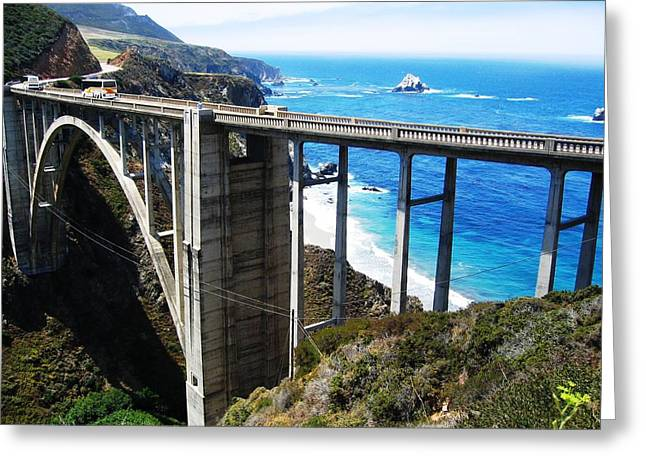 Bixby Bridge On The Pacific At Big Sur Greeting Card by Don Struke