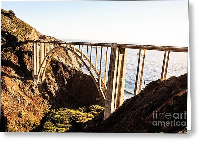 Bixby Bridge Greeting Card by Scott Pellegrin