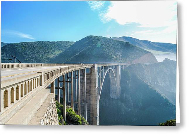 Greeting Card featuring the photograph Bixby Bridge,big Sur by Jingjits Photography
