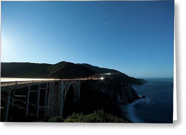 Bixby Creek Bridge Big Sur Greeting Card by F S