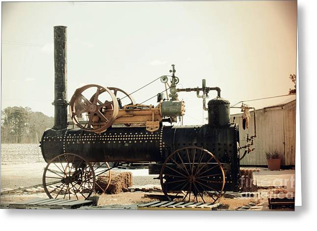 Black And Glorious Steam Machine Greeting Card