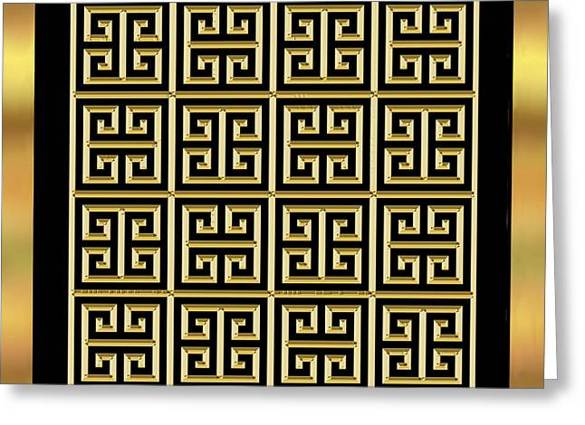Black And Gold 11 - Chuck Staley Greeting Card by Chuck Staley