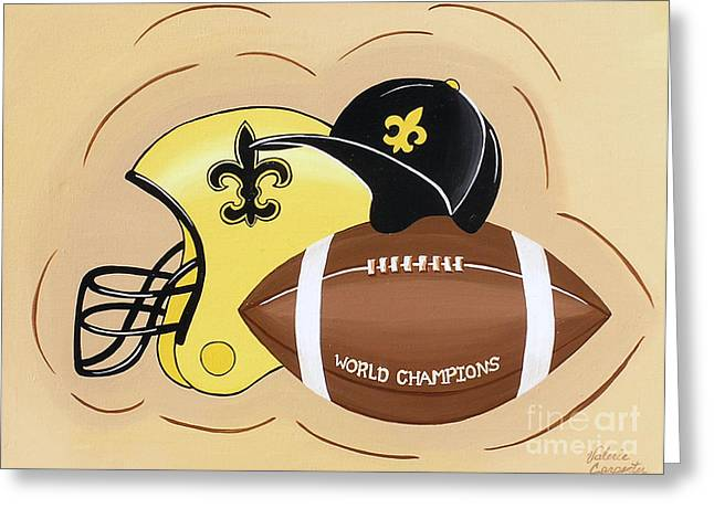 Black And Gold Champs Greeting Card