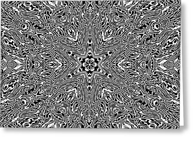 Greeting Card featuring the digital art Black And  White 24 by Robert Thalmeier