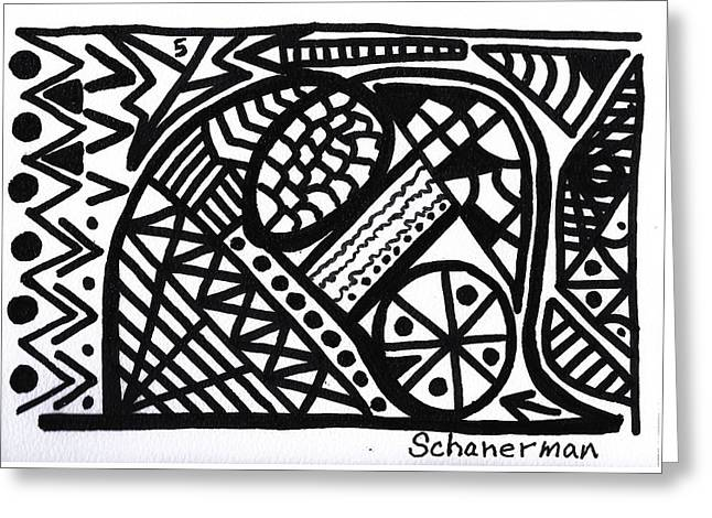 Black And White 5 Greeting Card