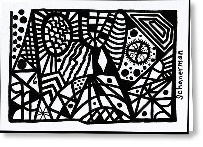 Black And White 6 Greeting Card