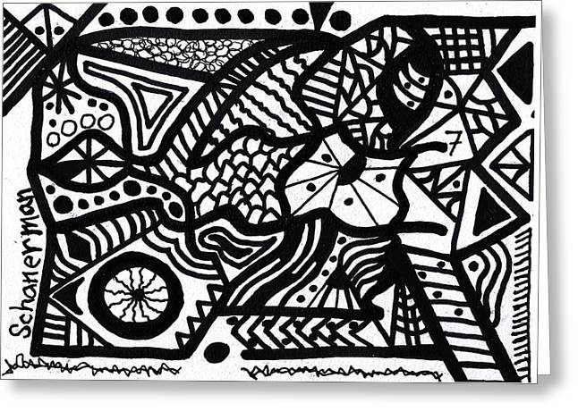 Black And White 7 Greeting Card