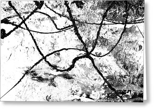 Black And White Abstract Art By Laura Gomez Greeting Card by Laura  Gomez