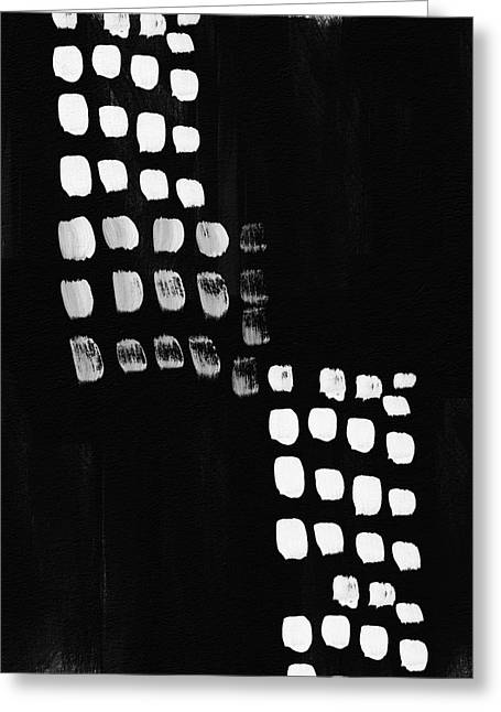 Black And White Abstract- Art By Linda Woods Greeting Card by Linda Woods