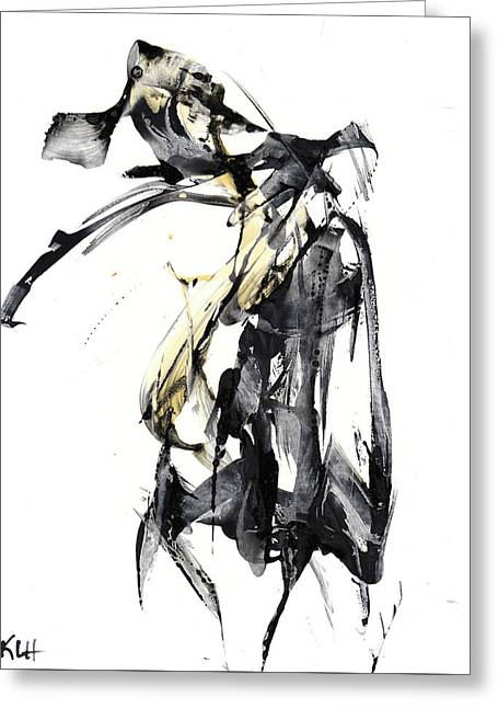 Black And White Abstract Expressionism Series 7344.072009 Greeting Card by Kris Haas